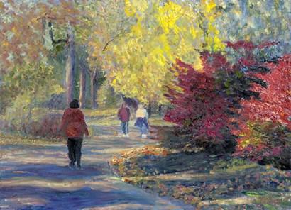 Autumn in the Park by Robert Blehert art print