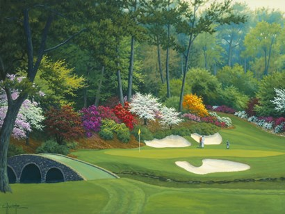 Augusta on the 12th hole by Charles White art print