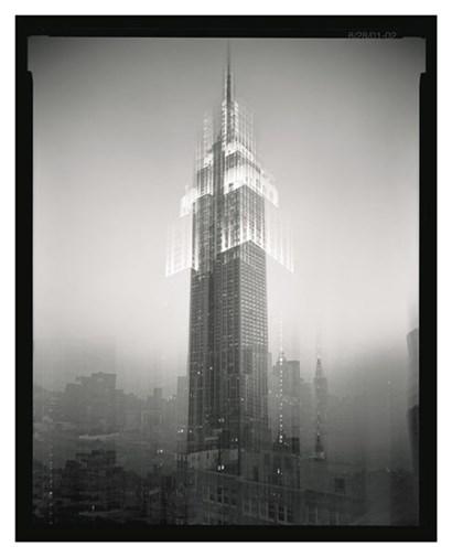 Empire State Building Motion Landscape #2 by Len Prince art print
