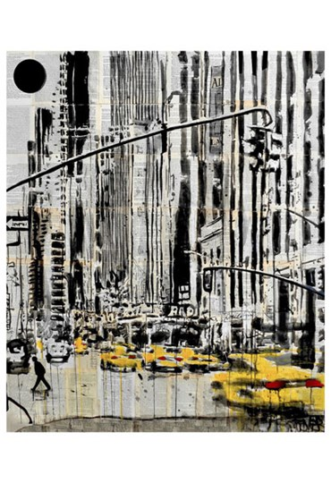 Somewhere in New York City by Loui Jover art print