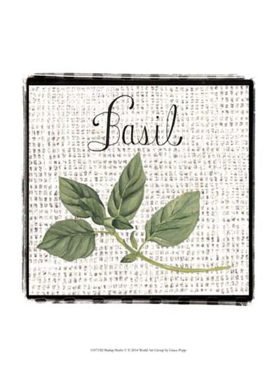 Burlap Herbs V by Grace Popp art print