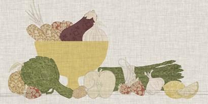 Contour Fruits & Veggies IV by Vision Studio art print