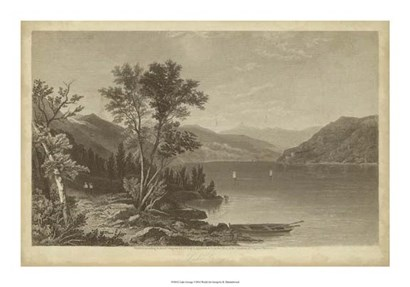 Lake George by R. Hinshelwood art print