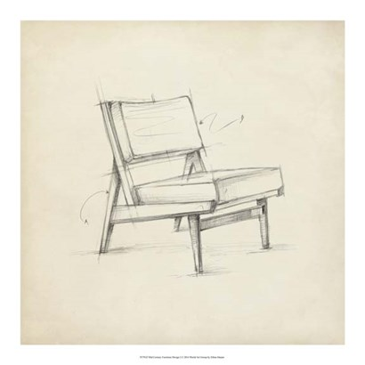 Mid Century Furniture Design I by Ethan Harper art print