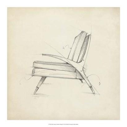 Mid Century Furniture Design II by Ethan Harper art print