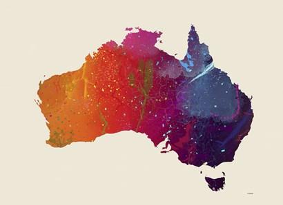Australia Map 1 by Marlene Watson art print