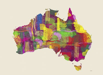 Australia Map 2 by Marlene Watson art print