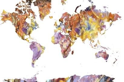 World Map Rock 1 by Marlene Watson art print