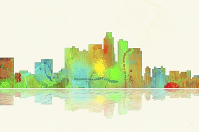 Los Angeles California Skyline 1 by Marlene Watson art print