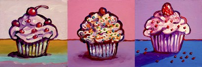 3 Cupcakes by Howie Green art print