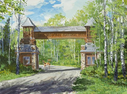 Park Welcome by Peter Snyder art print