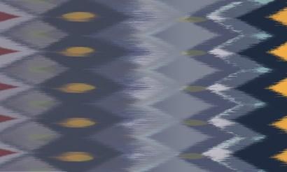 Windy Rug Pattern in Blues by Art Licensing Studio art print