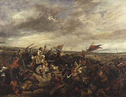The Battle of Poitiers, 1830 by Eugene Delacroix art print