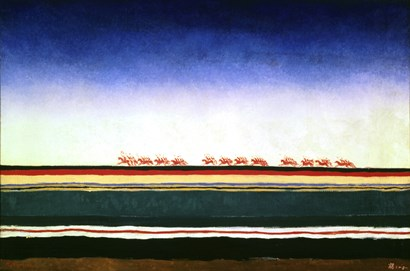 The Advance of The Red Cavalry by Kazimir Malevich art print