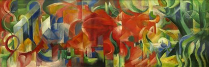 Playing Forms - Spielende Formen, 1914 by Franz Marc art print
