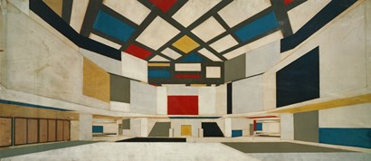 Colored Design For The Central Hall Of A University, 1923 by Theo van Doesburg art print
