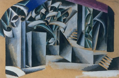 The Garden In Front Of The House, 1920 by Liubov Popova art print