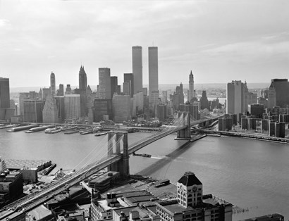 Brooklyn Bridge and World Trade Center, Lower Manhattan by Print Collection art print