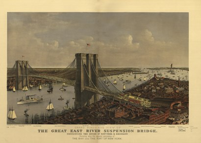 Brooklyn Bridge by Vintage Apple Collection art print