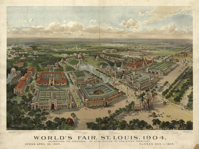 St Louis Worlds Fair by Vintage Apple Collection art print