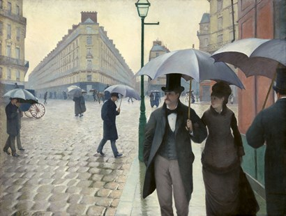 Caillebotte, Paris Street, A Rainy Day by Vintage Apple Collection art print