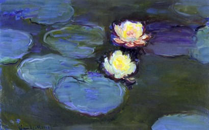 Water Lily Detail Blur by Claude Monet art print