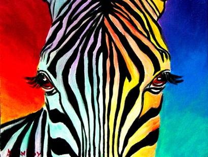 Zebra by DawgArt art print