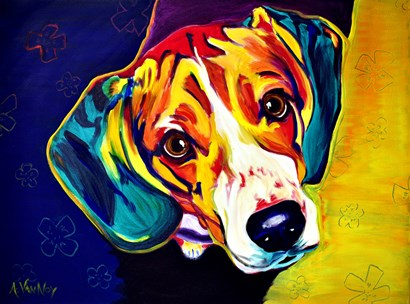 Beagle Bailey by DawgArt art print
