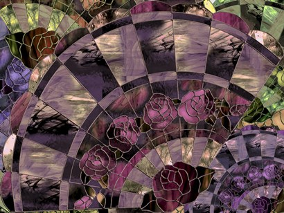 Art Nouveau Fan by Mindy Sommers art print