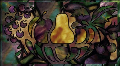 Stained Glass Fruit by Mindy Sommers art print