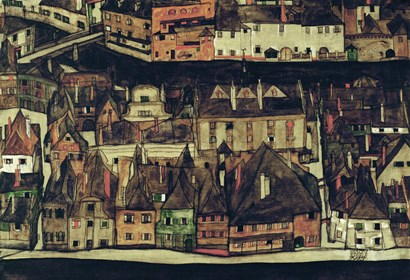 The Small City III, 1913 by Egon Schiele art print