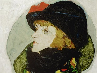 Portrait Of Ida Roessler, 1912 by Egon Schiele art print