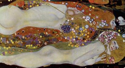 Wasserschlangen - Watersnakes IiI(The Friends), 1904-1907 by Gustav Klimt art print
