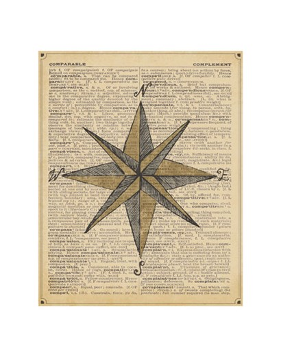 Nautical Series - Nautical Star by Sparx Studio art print