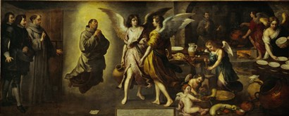 The Angels' Kitchen by Bartolome Esteban Murillo art print
