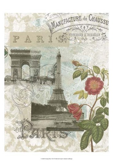 Visiting Paris by Jennifer Goldberger art print