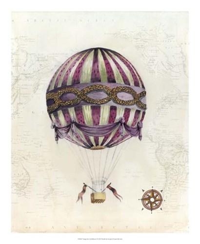 Vintage Hot Air Balloons I by Naomi McCavitt art print