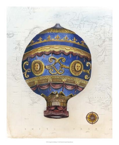 Vintage Hot Air Balloons V by Naomi McCavitt art print