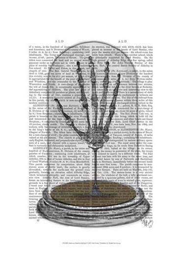 Skeleton Hand In Bell Jar by Fab Funky art print