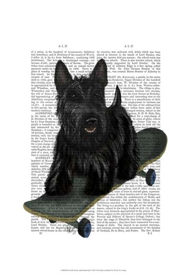 Scottish Terrier and Skateboard by Fab Funky art print
