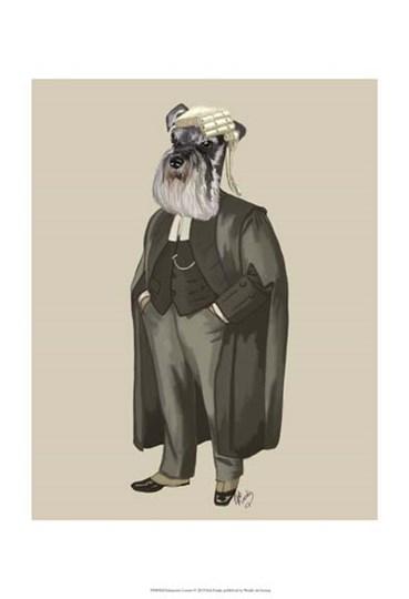 Schnauzer Lawyer by Fab Funky art print