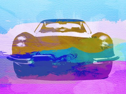 Jaguar E Type Front by Naxart art print