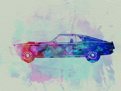 Ford Mustang Watercolor 1 by Naxart art print