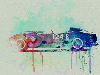Ferrari Testa Rossa Watercolor 2 by Naxart art print