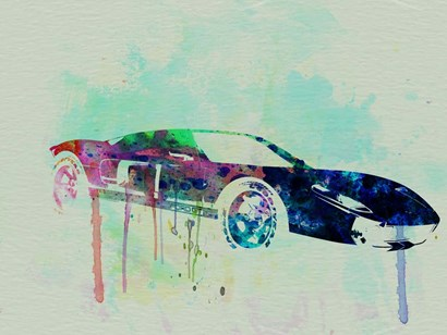 Ford GT Watercolor 2 by Naxart art print