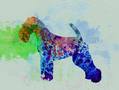 Welsh Terrier Watercolor by Naxart art print