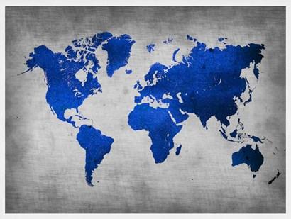 World  Map 10 by Naxart art print