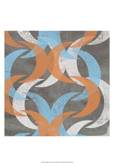 Graphic Wave II by Jennifer Goldberger art print