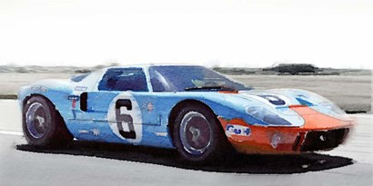 Ford GT 40 Gulf by Naxart art print