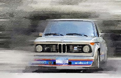 1974 BMW 2002 Turbo by Naxart art print